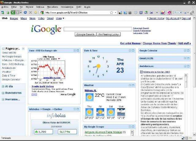 google home page in English